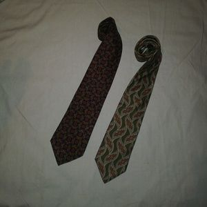 Christian Dior All Silk Ties - Lot of 2